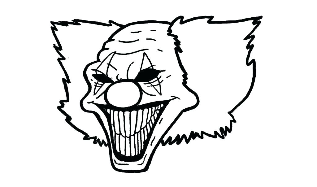 1024x604 Coloring Pages Clown