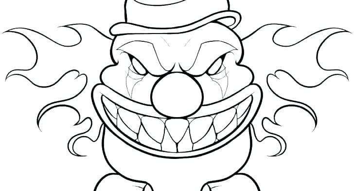The Best Free Clown Coloring Page Images Download From 829