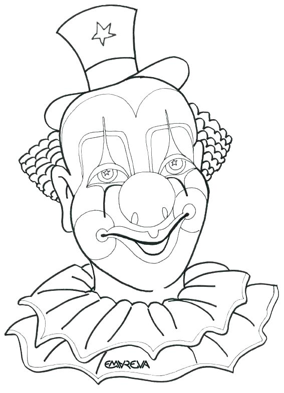 567x785 Clown Coloring Page