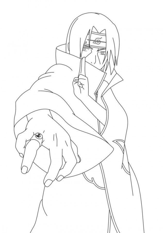 Itachi Coloring Pages
