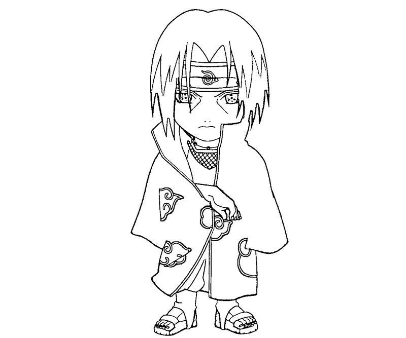 800x667 Itachi Uchiha Coloring Crafty Teenager