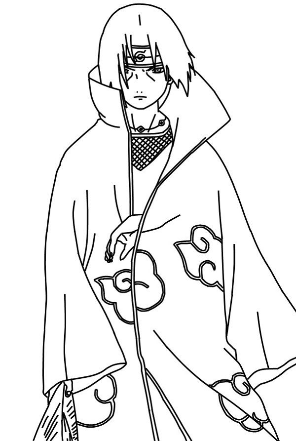 600x893 Naruto Itachi Coloring Pages Naruto Itachi Coloring Pages
