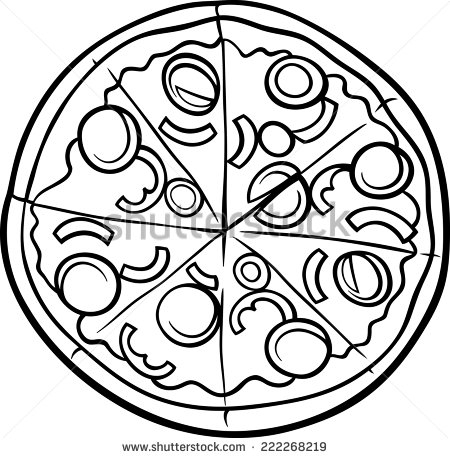 450x458 Italian Food Coloring Pages Black White Cartoon Vector