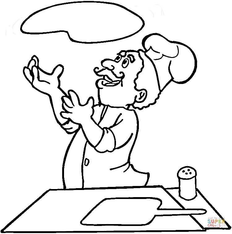 750x755 Italian Is Cooking Pizza Coloring Page Free Printable Coloring