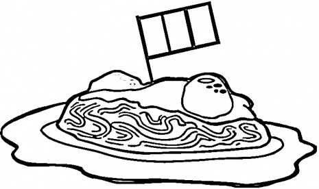 465x276 Pasta Coloring Pages Pasta Coloring Pages Becoming Italian Color