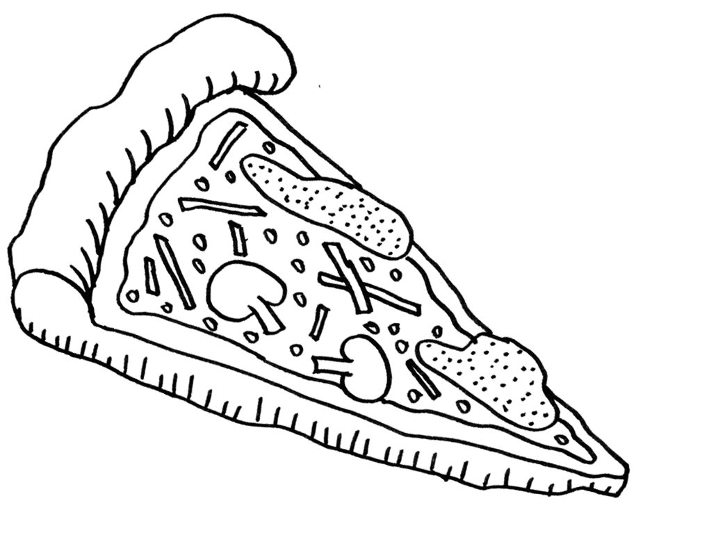 1020x783 Pizza Coloring Pages Food Foods Coloring Pages