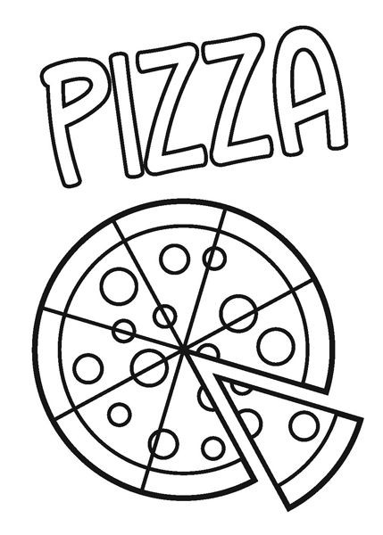 429x600 Printable Pizza Coloring Pages Unique Pizza Coloring Pages Kids