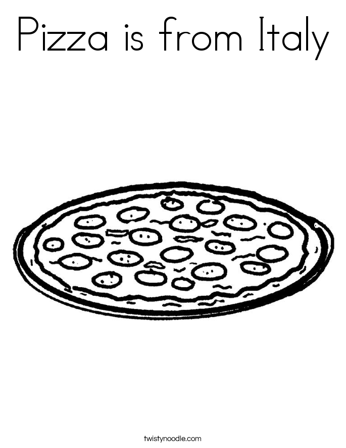 685x886 Coloring Pages Of Italy Pizza Is From Italy Coloring Page