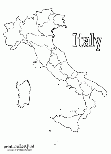 Italy Coloring Pages For Kids