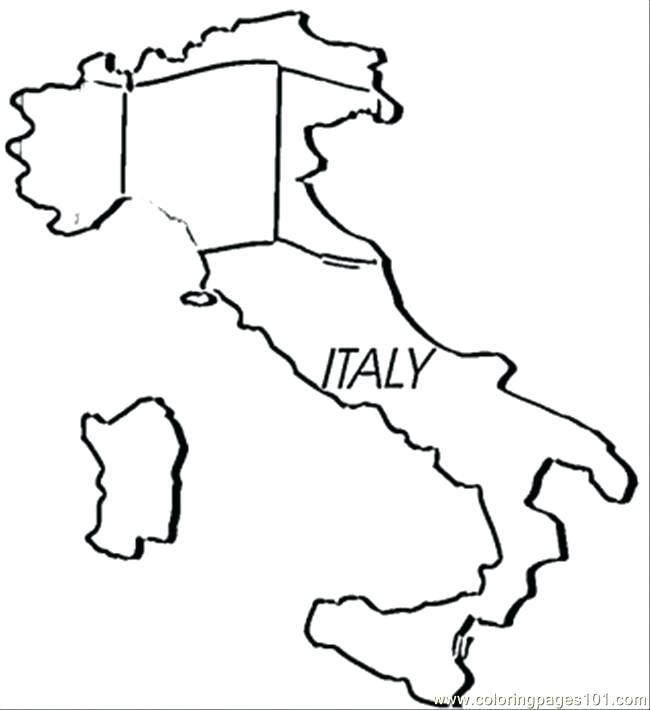 650x710 Italy Flag Coloring Page Printable Kids Coloring Map Of Coloring