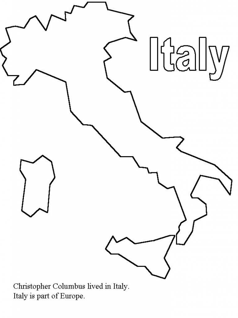 768x1024 Download Coloring Pages Italy New Flag Page