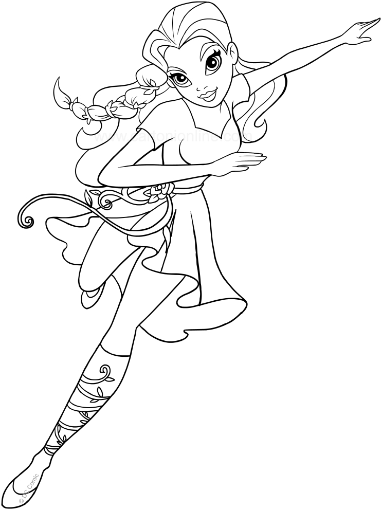 743x992 Poison Ivy Free Coloring Page Kids, Movies, Superheros Coloring