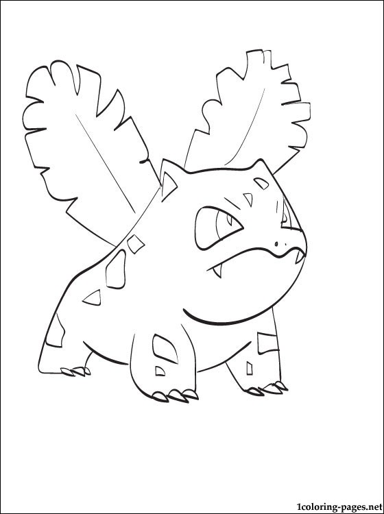 560x750 Coloring Pokemons Page Ivysaur Coloring Pages