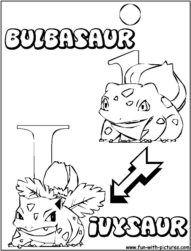 800x1050 I Bulbasaur Ivysaur Coloring Page