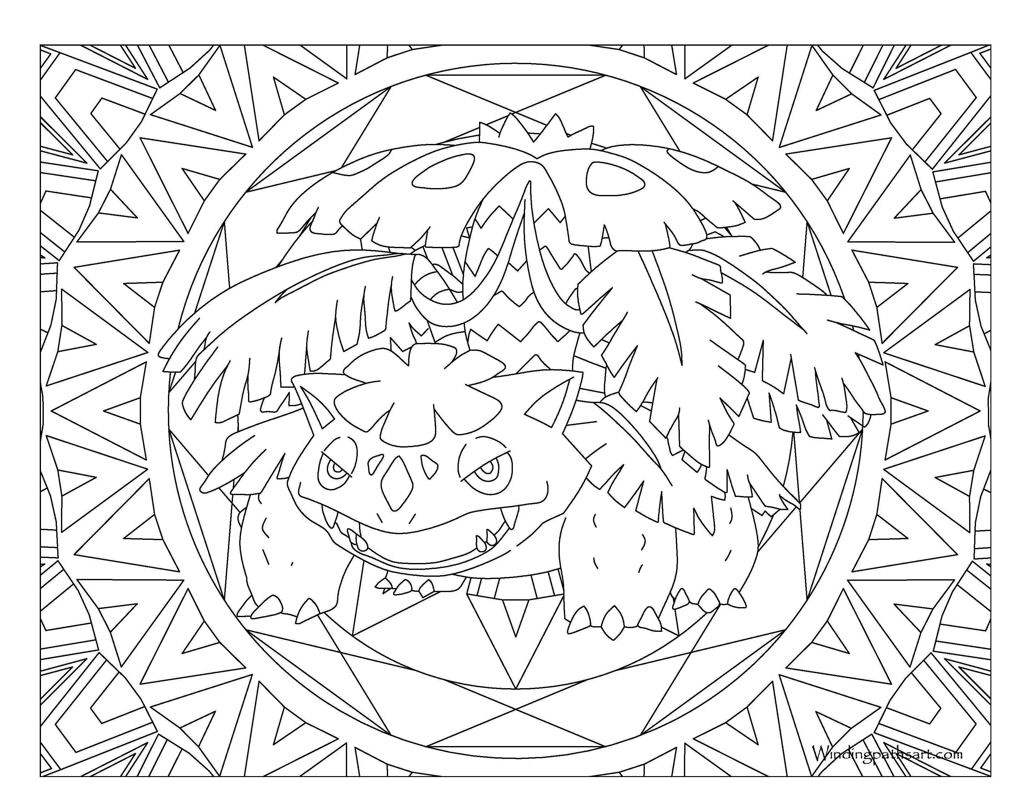 3300x2550 Ivysaur Coloring Page Free Printable Pages Beautiful Venusaur
