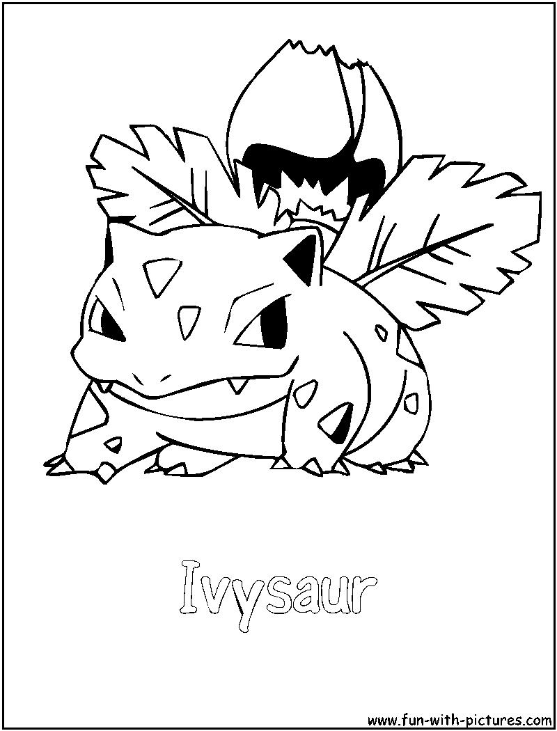 800x1050 Ivysaur Coloring Page