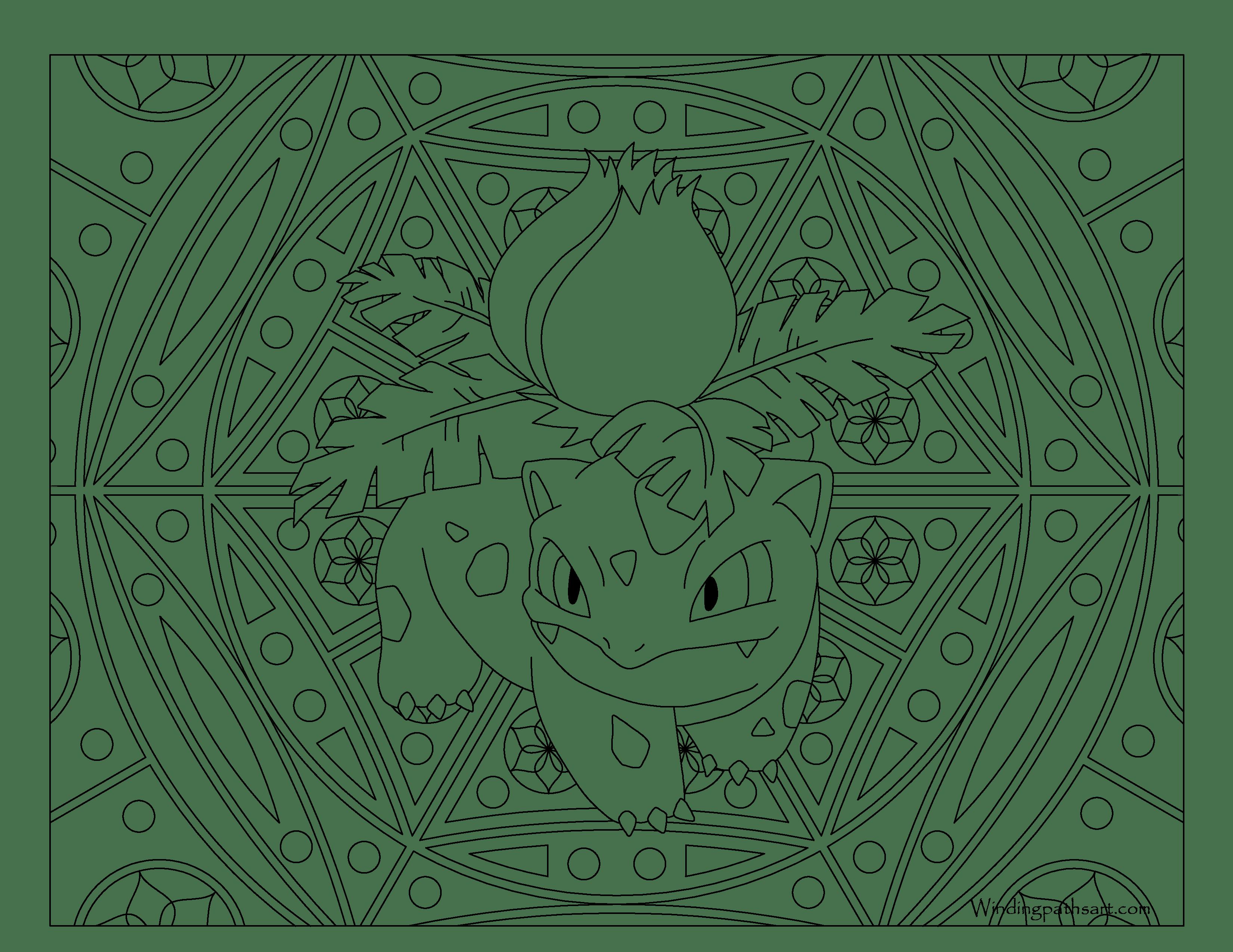 3300x2550 Ivysaur Pokemon Coloring Page