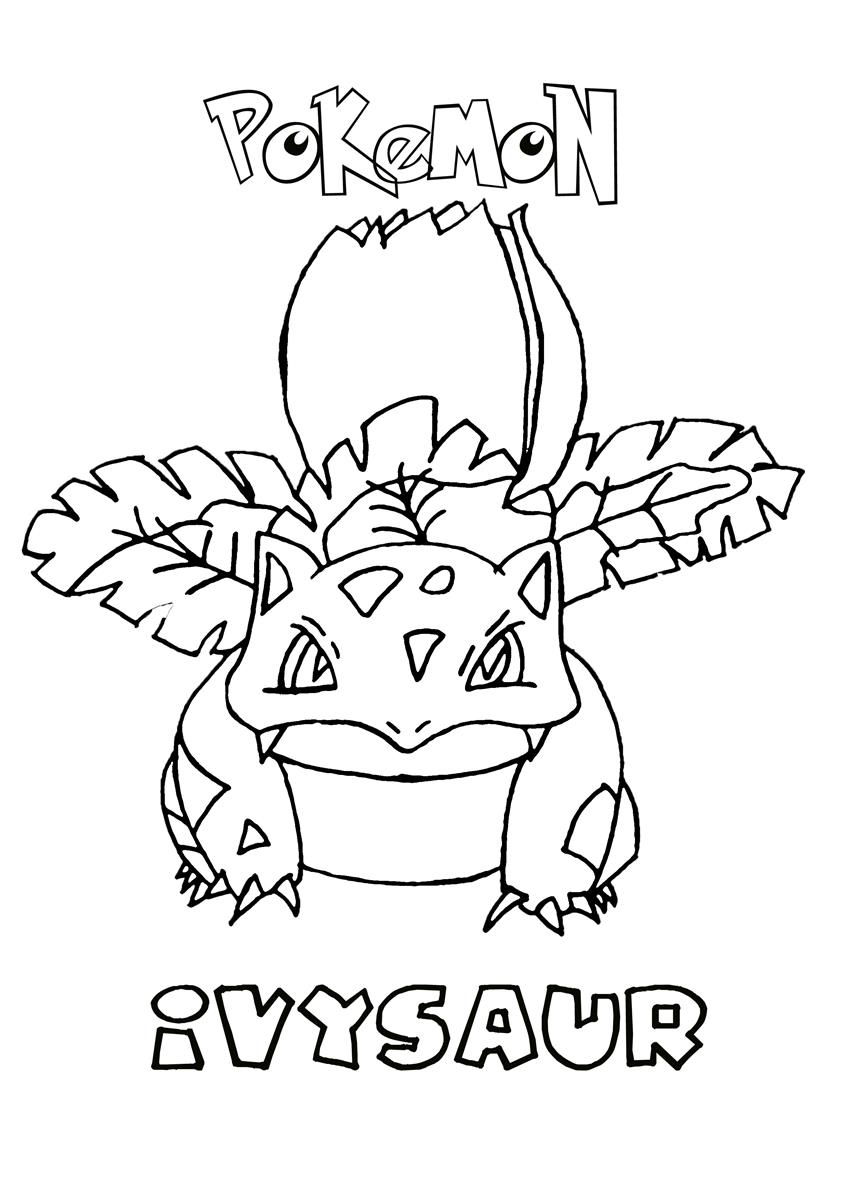 848x1200 Ivysaur Pokemon Coloring Page