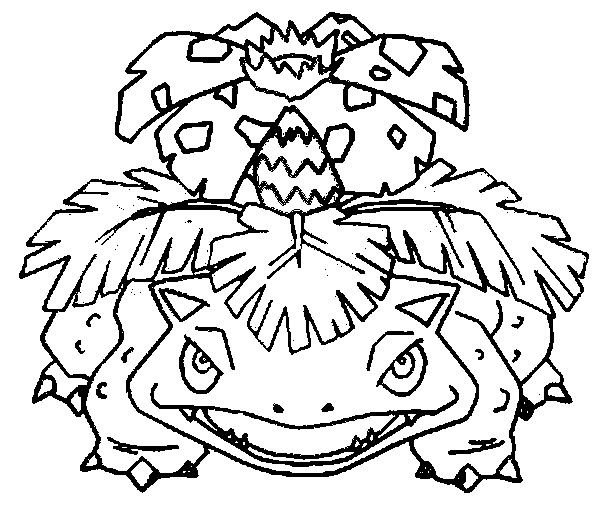 600x514 Picture Coloring Pokemon Coloring Pages Venusaur With Coloring