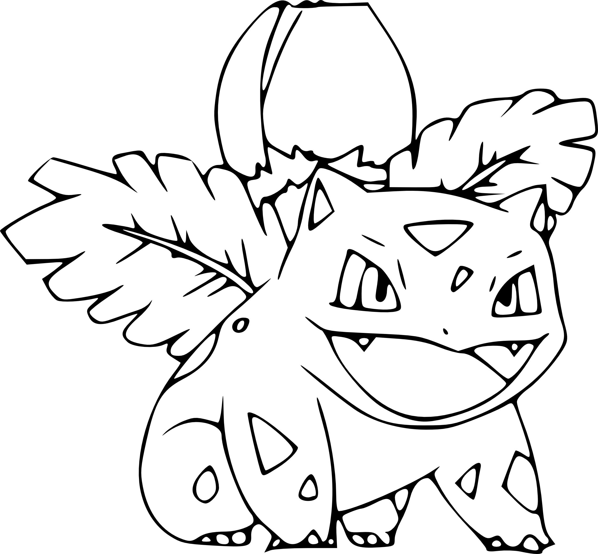 2272x2105 Pokemon Ivysaur Coloring Page