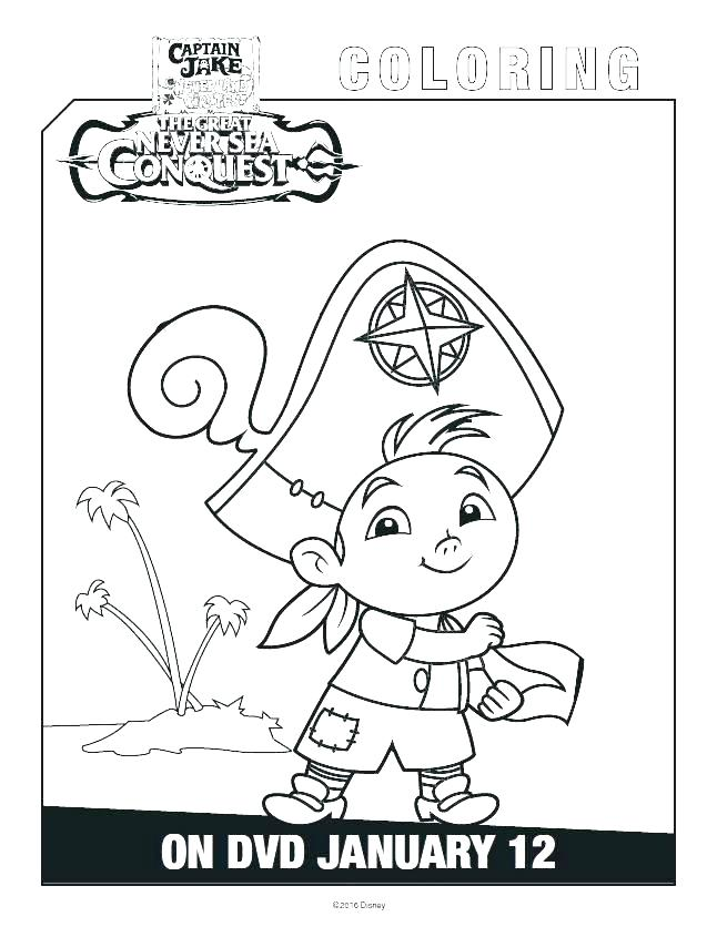 646x836 Izzy Jake And The Neverland Pirates Coloring Pages Medium Size