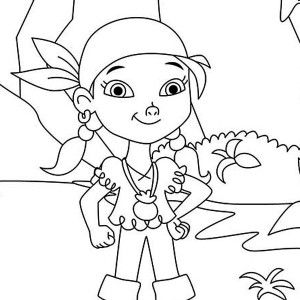 300x300 Izzy The Vice Captain Of Never Land Pirates Coloring Page Izzy