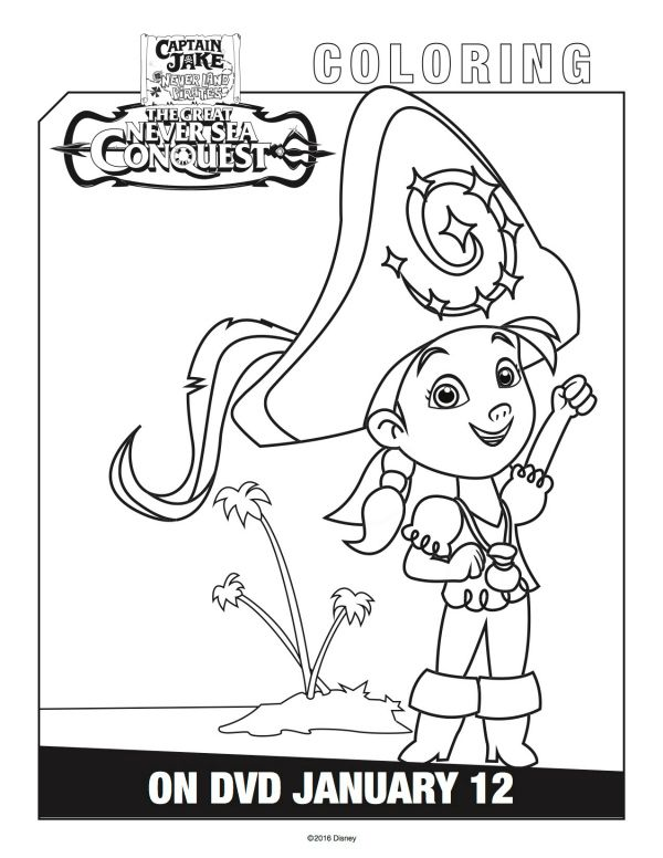 600x776 Disney Captain Jake And The Neverland Pirates Izzy Coloring Page