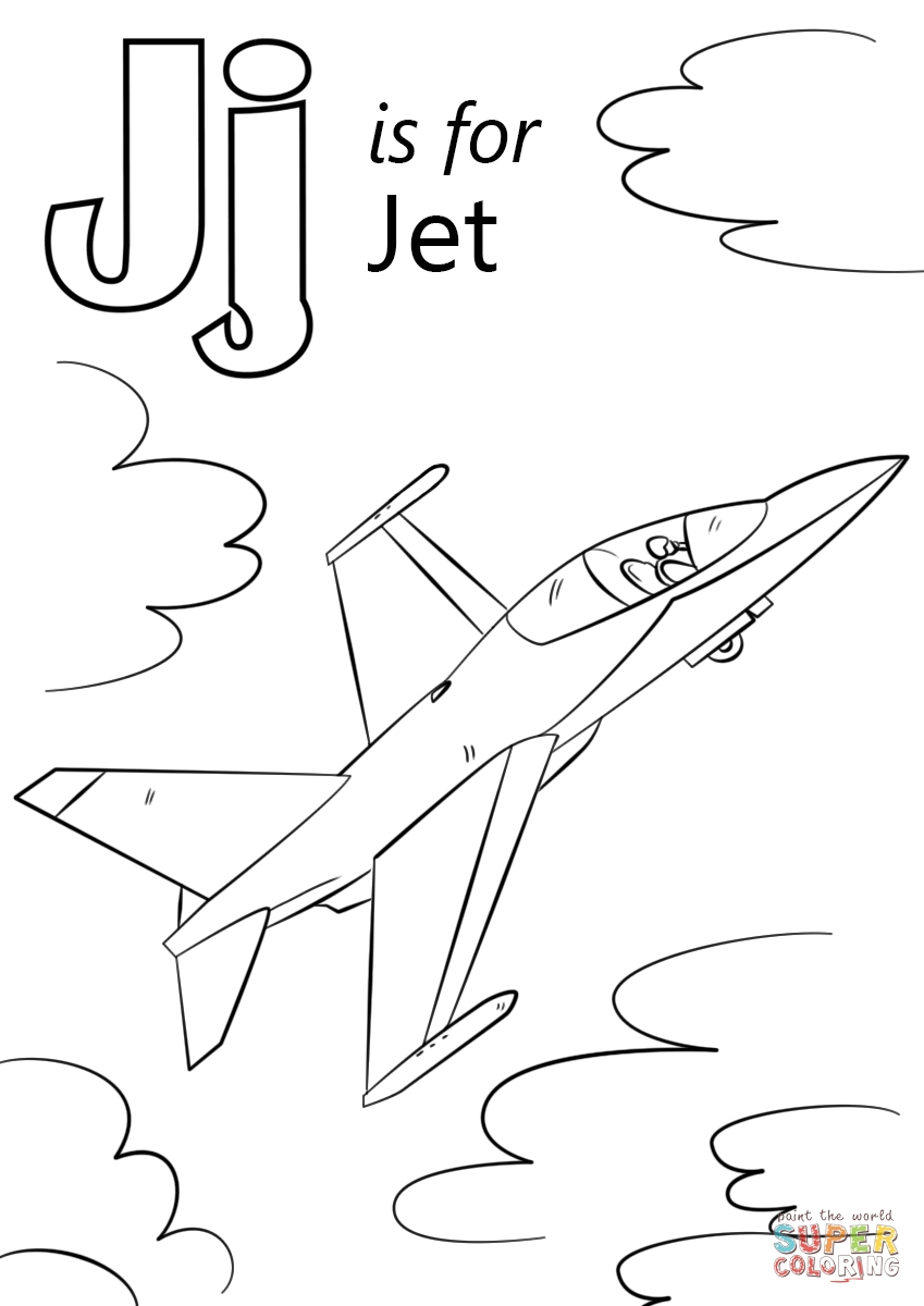 J Coloring Pages
