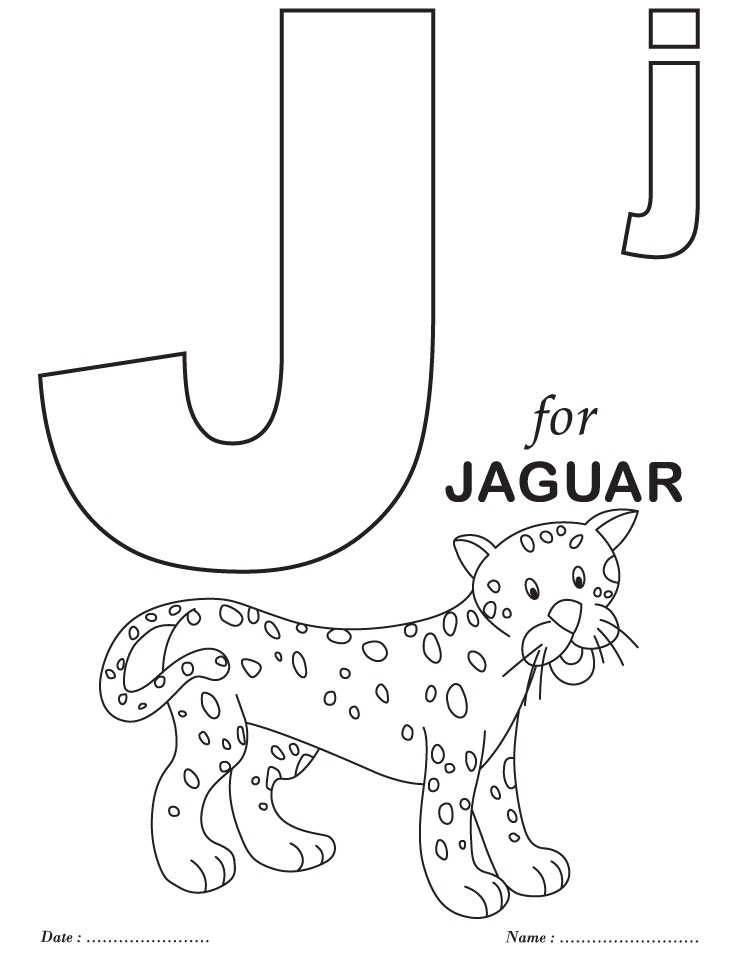 738x954 J Coloring Pages Educational Coloring Pages