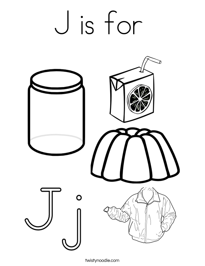685x886 J Is For Coloring Page