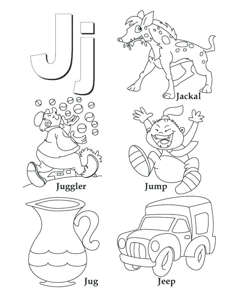 742x960 Letter J Coloring Pages