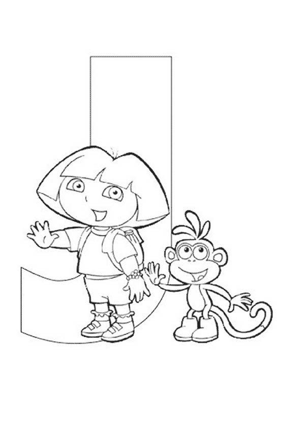 600x848 Dora The Explorer Alphabet Dora And Boots Love Letter J Coloring