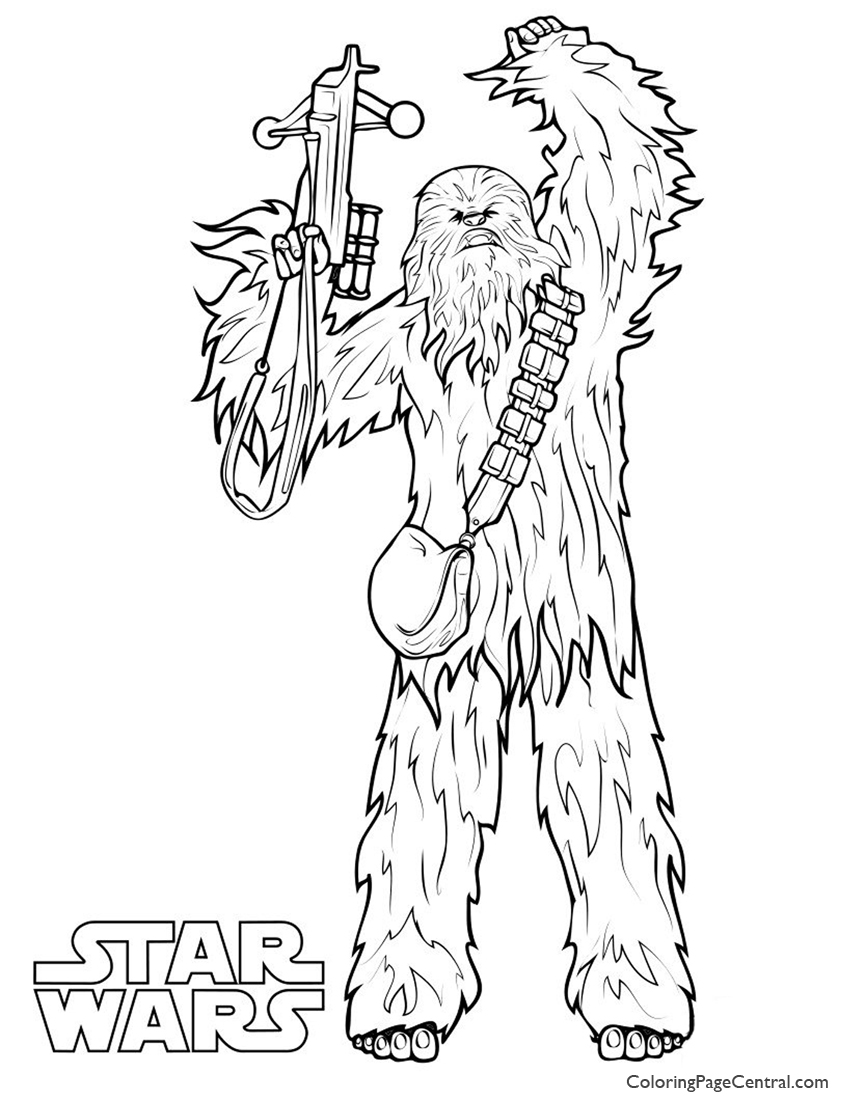 850x1100 Star Wars Chewbacca Coloring Page Pages
