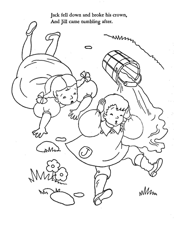 Jack And Jill Coloring Pages