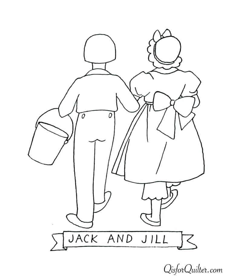 750x912 Jack Jill Coloring Page Jack Coloring Pages Jack