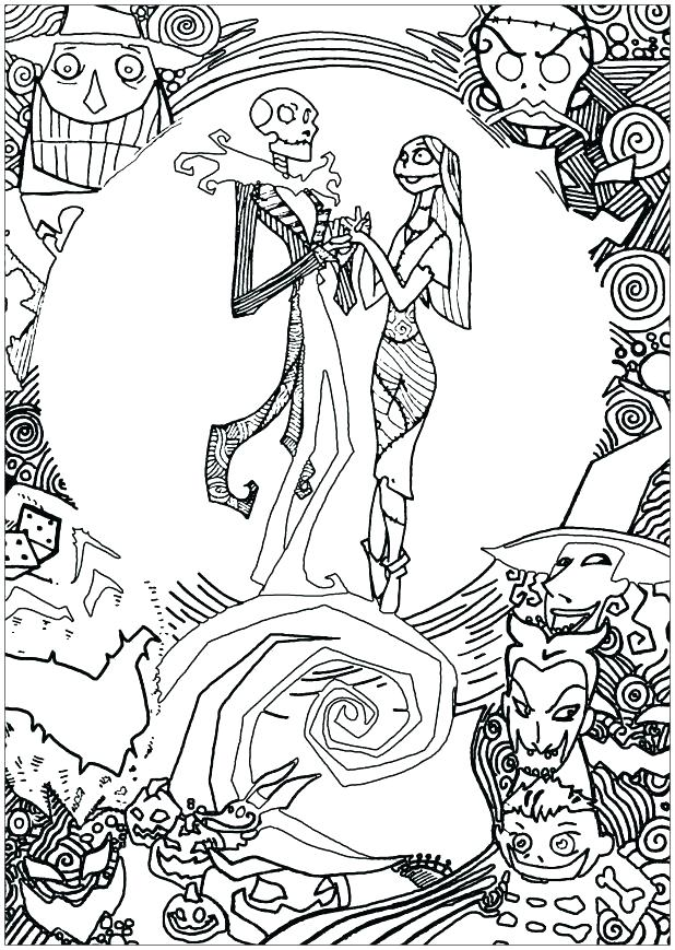 618x869 Jack And Sally Coloring Pages Jack And Sally Coloring Pages