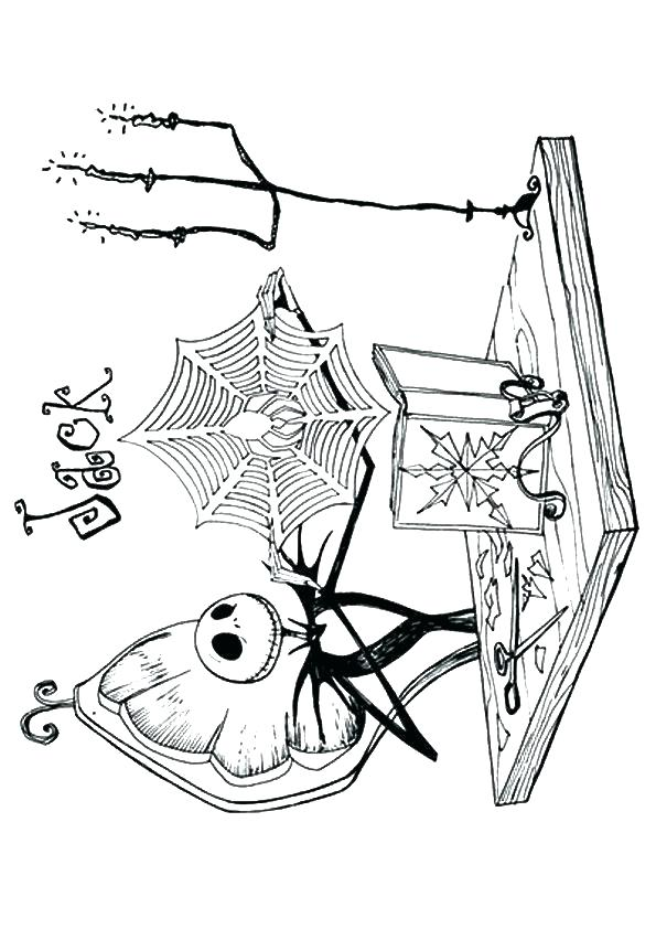 595x842 Jack And Sally Coloring Pages Nightmare Before Jack And Sally