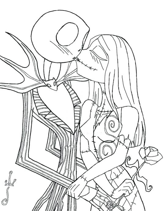 540x690 Jack Y Sally Para Colorear Jack And Sally Coloring Pages A Para