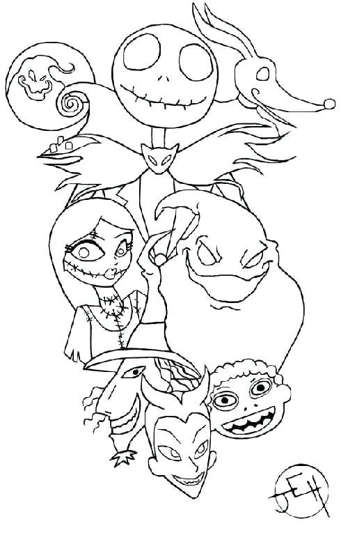 490x768 Jack Y Sally Para Colorear Nightmare Before Coloring Pages
