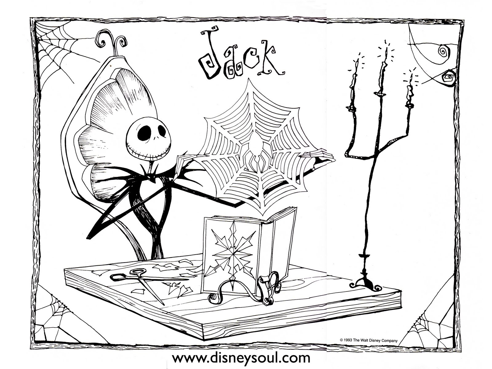 1600x1200 Nightmare Before Christmas Coloring Pages Jack Skellington Free