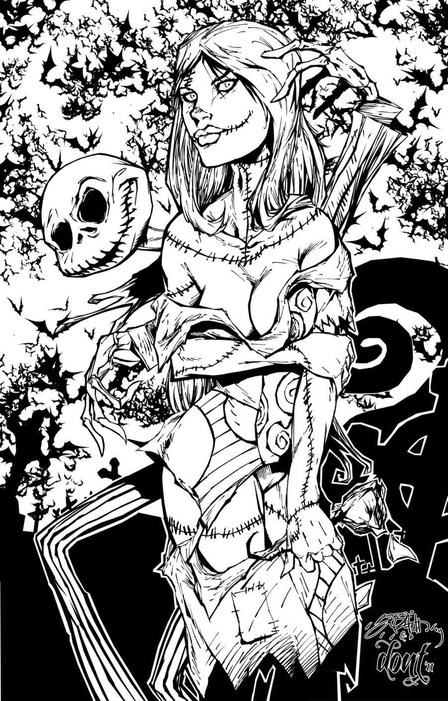 900x1407 Pics Of Sally Creepypasta Coloring Pages Jack Skellington