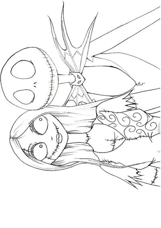 564x798 Sally Night Before Christmas Coloring Pages Nightmare Before