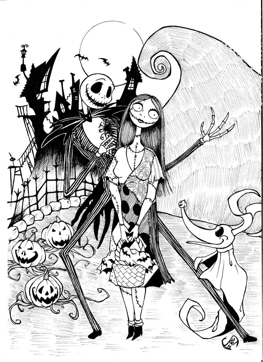 900x1240 Free Printable Nightmare Before Christmas Coloring Pages