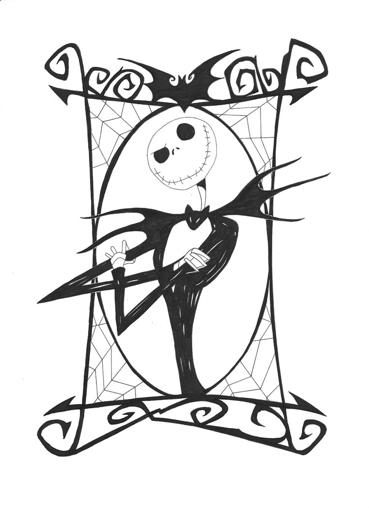 762x1048 Free Printable Nightmare Before Christmas Coloring Pages Best Jack