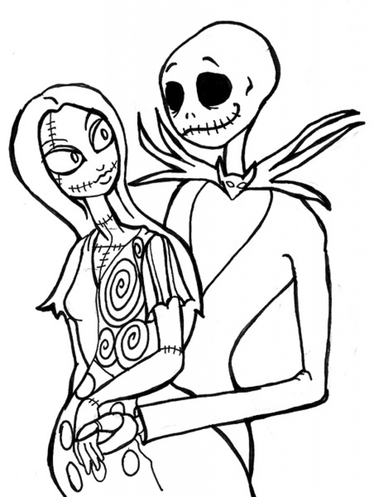 771x1024 Jack And Sally Coloring Pages