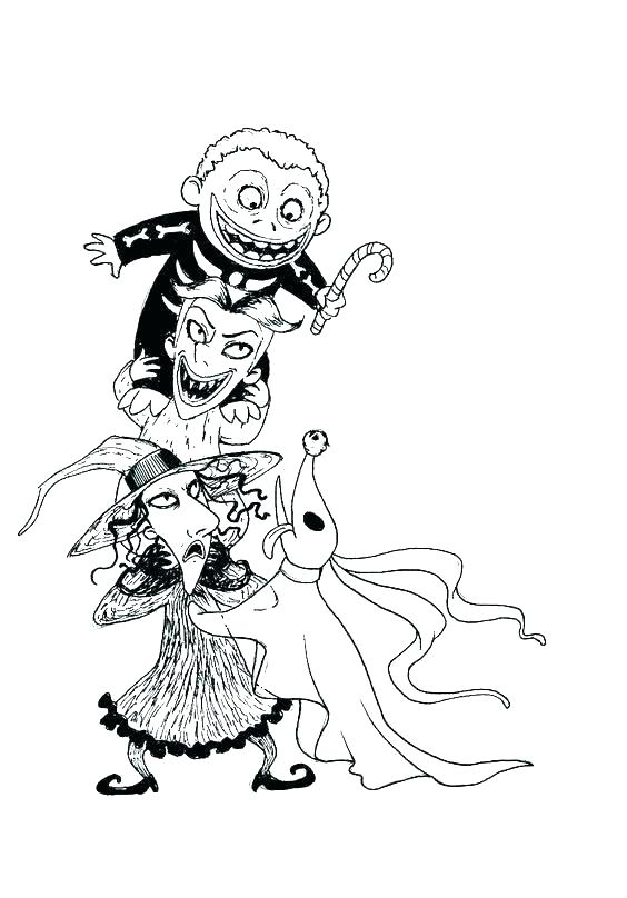 564x808 Jack And Sally Coloring Pages Jack And Coloring Pages Jack