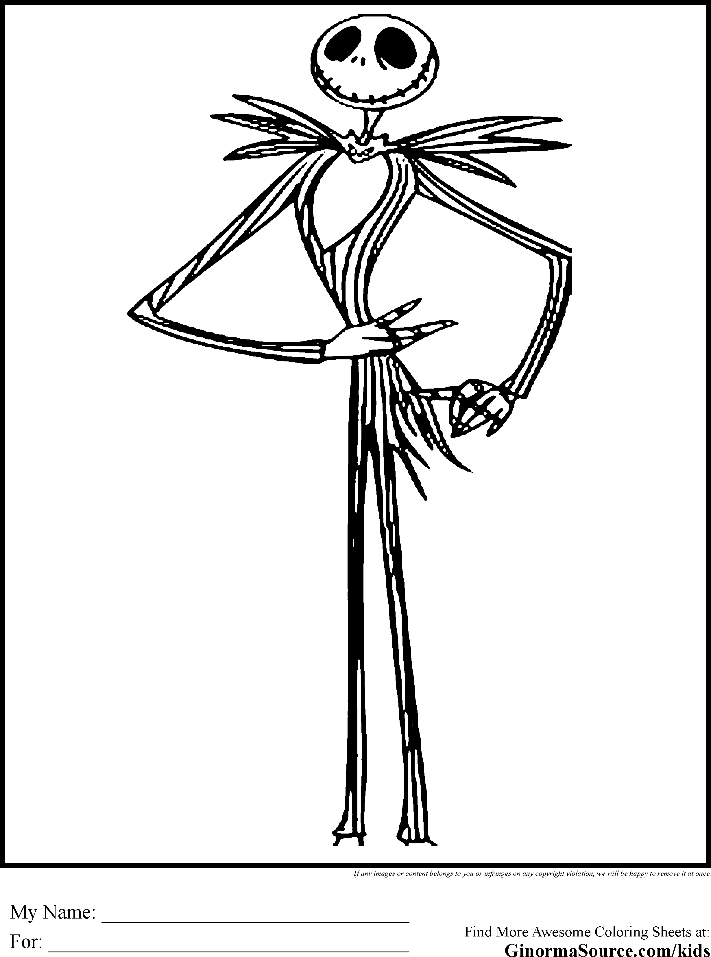 2459x3310 Jack And Sally Nightmare Before Christmas Coloring Pages Image
