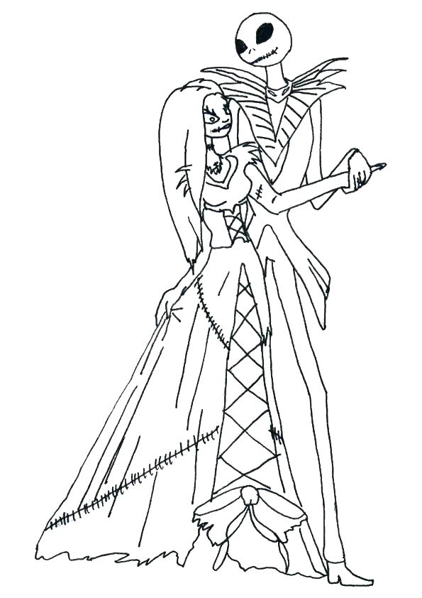 595x842 Jack Skellington Coloring Page With Jack Coloring Pages Fresh Jack