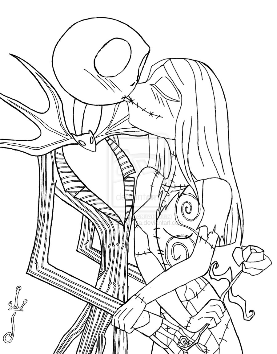 Jack And Sally Printable Coloring Pages at GetDrawings ...