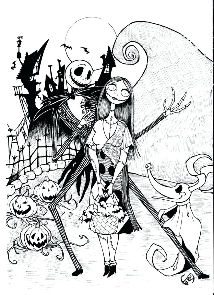 742x1024 Jack Y Sally Para Colorear Free Printable Coloring Page For Kids